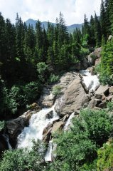 Wasserfall im Ridnauntal  Burghardklamm